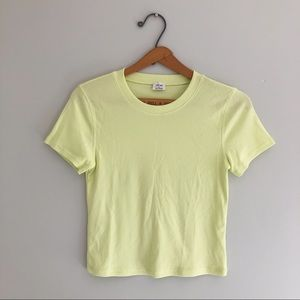 Aritzia Wilfred Lemon-Lime Go To T-Shirt Size M